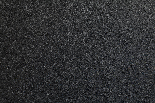 Black plastic material stock photo
