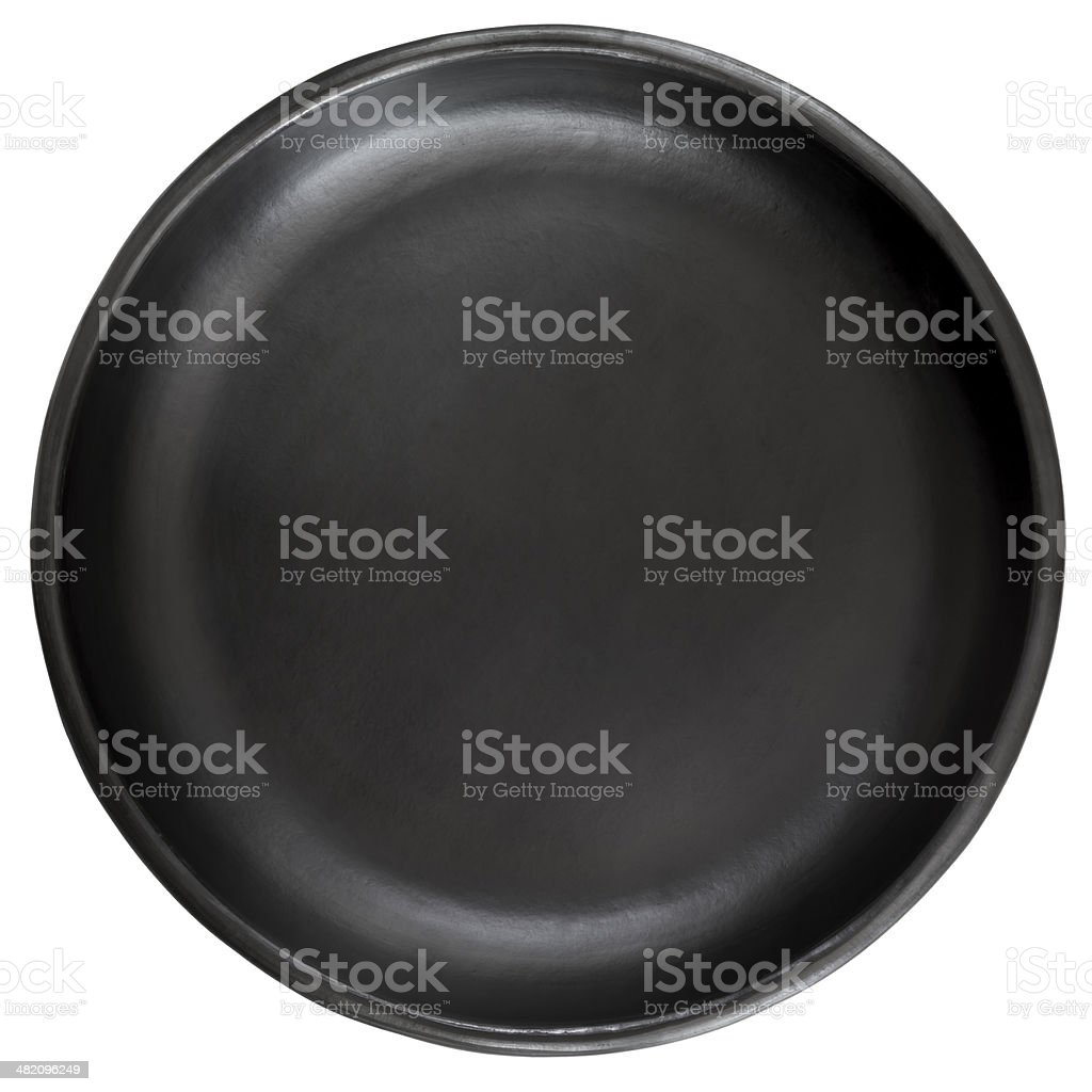 Black Plate Isolated on White stock photo