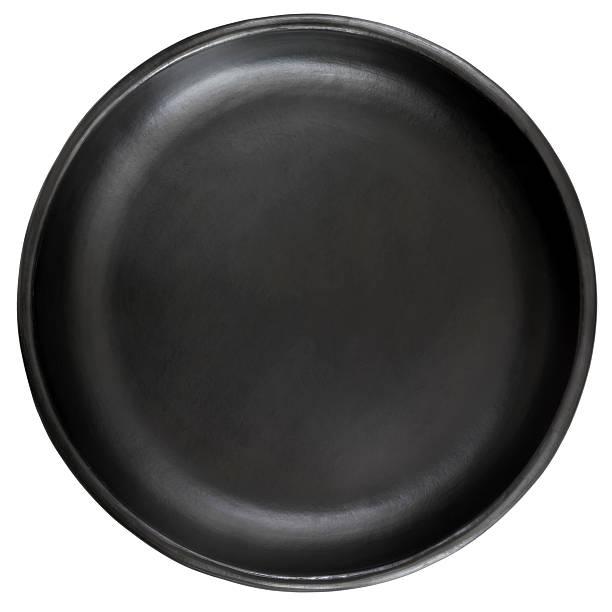 Schwarzen Platte, isoliert auf weiss – Foto