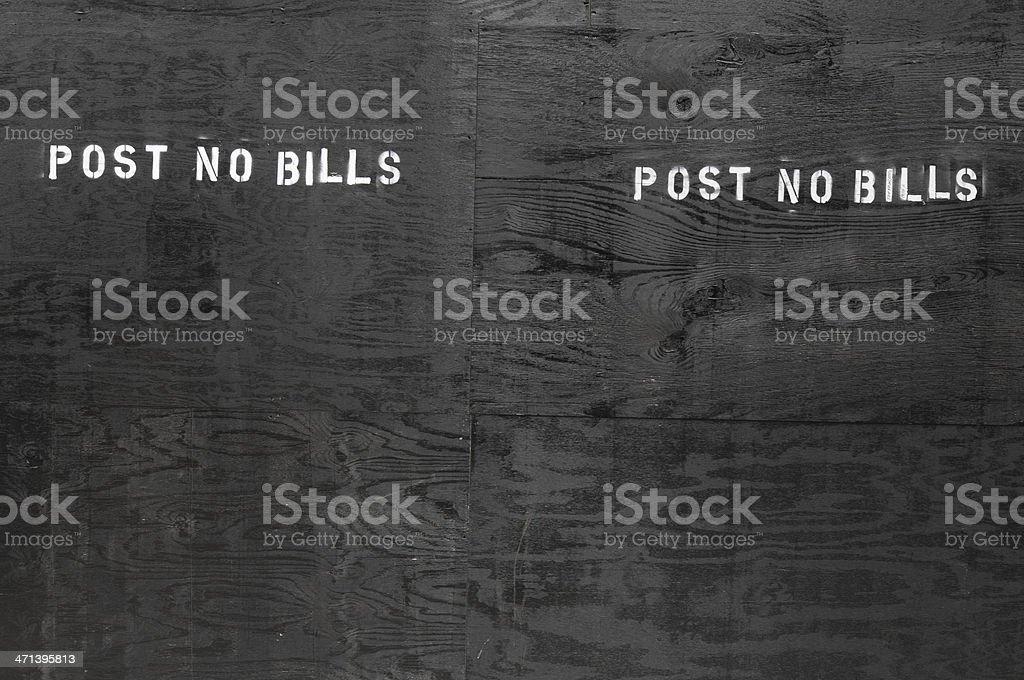 Black plywood wall stock photo