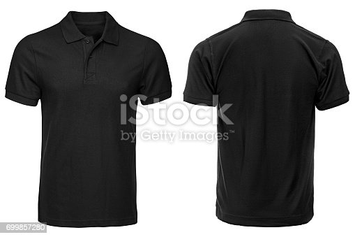 istock Black Polo shirt, clothes 699857280