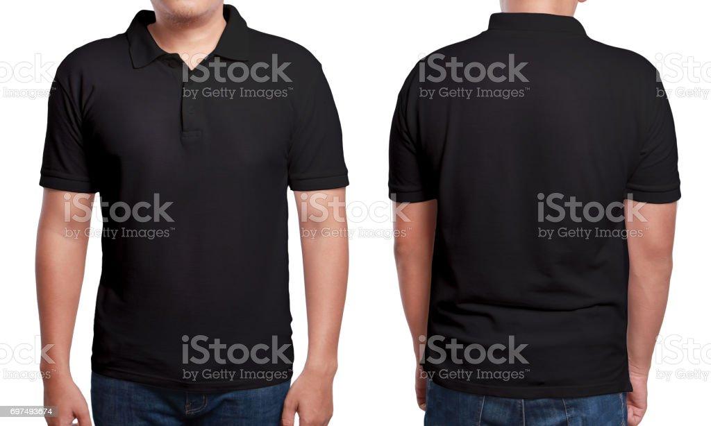 Black Polo Shirt Design Template stock photo