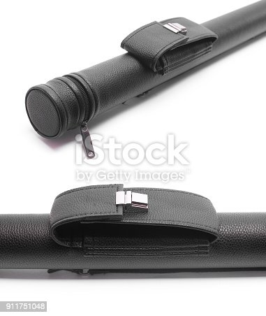 istock black Pool Cue Case isolated on white 911751048