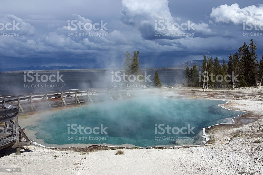 Black Pool hot spring royalty-free stock photo