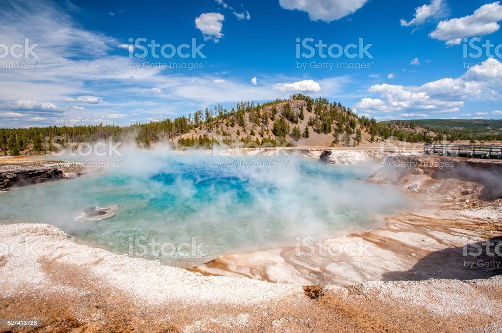 Black Pool in Yellowstone National Park, Wyoming-USA stock photo