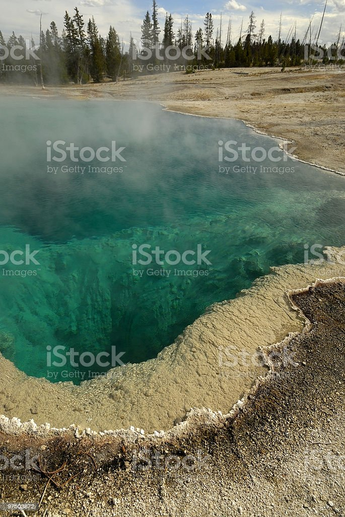 Black Pool Spring royalty-free stock photo