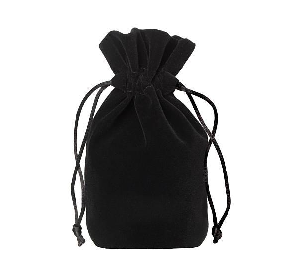 black pouch stock photo
