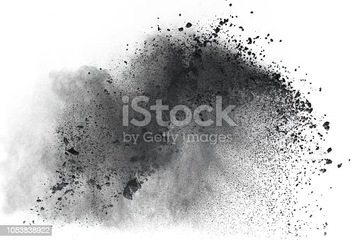 1148859909 istock photo Black powder isolated on white background 1053838922