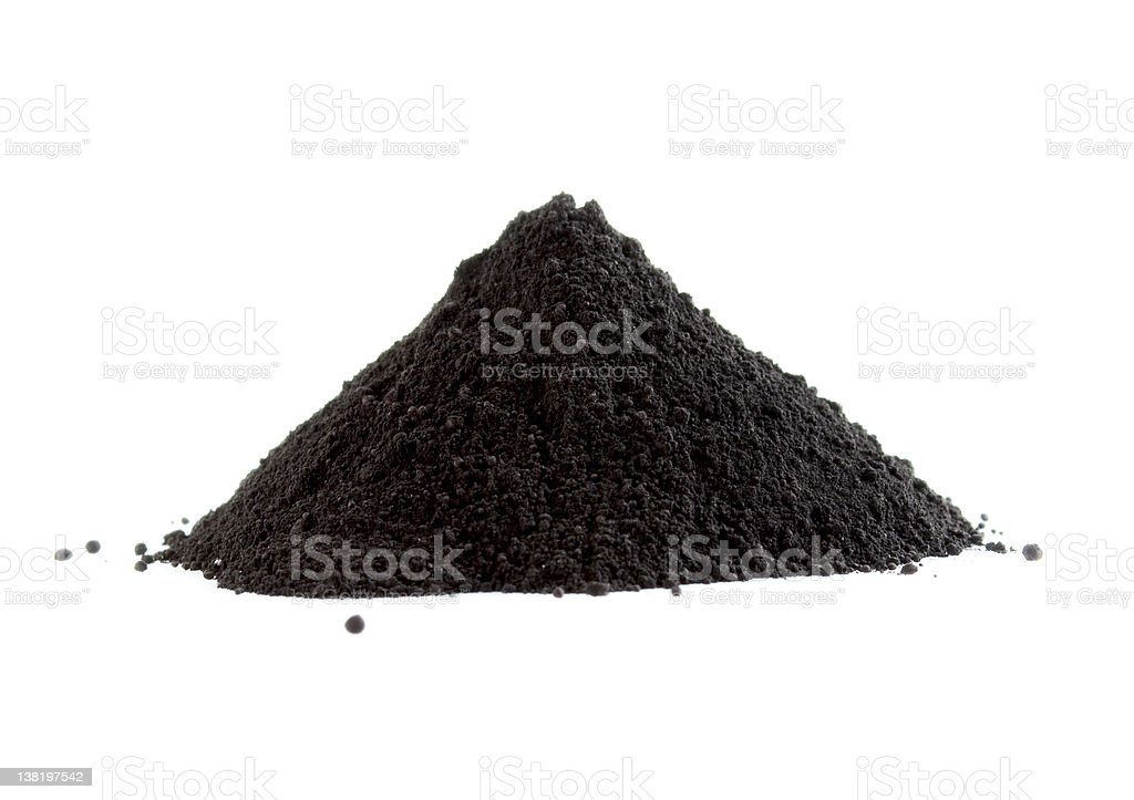 Black powder royalty-free stock photo