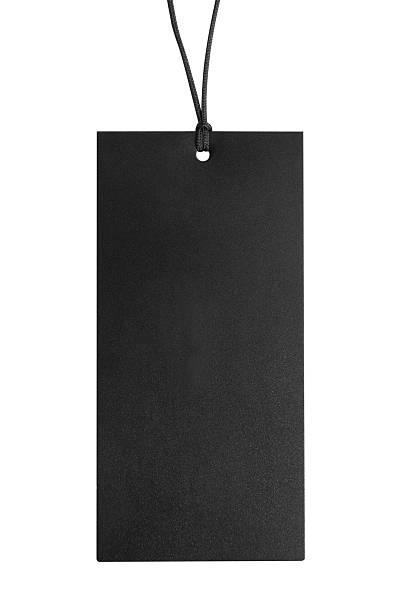 Black Preis-tag-Schild – Foto