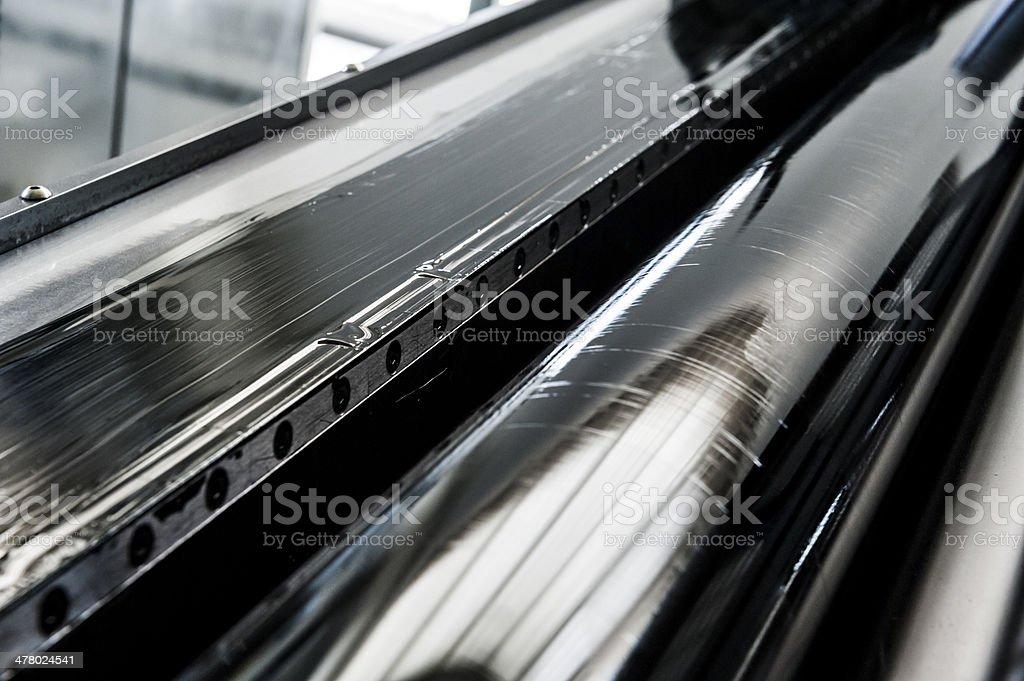 Impresión Negra Rodillo De Impresora De Color Cmyk Industrial ...
