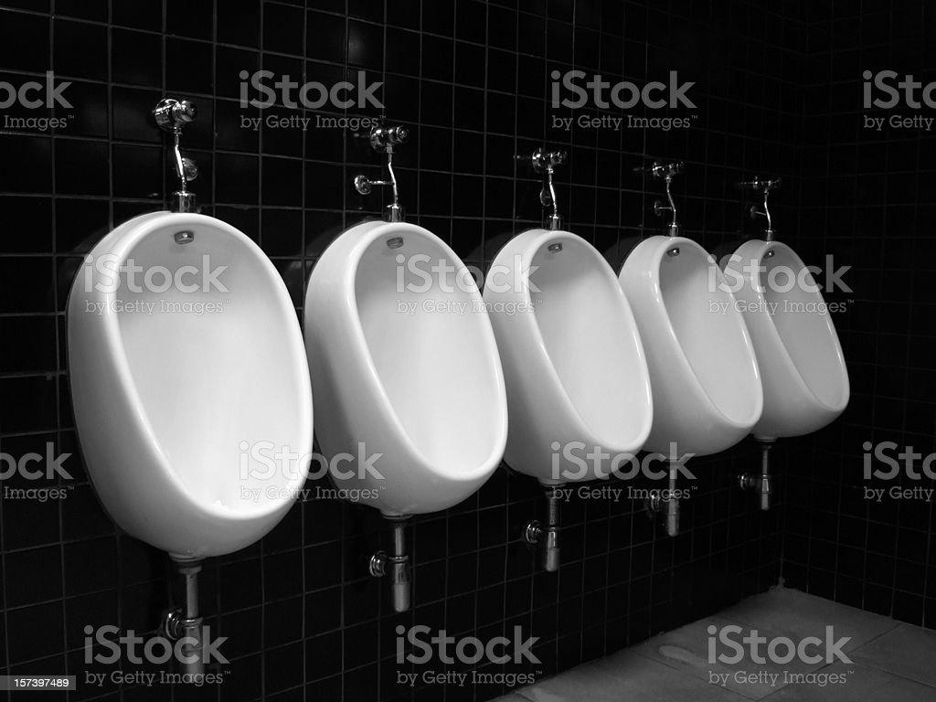 Black Public Restroom stock photo