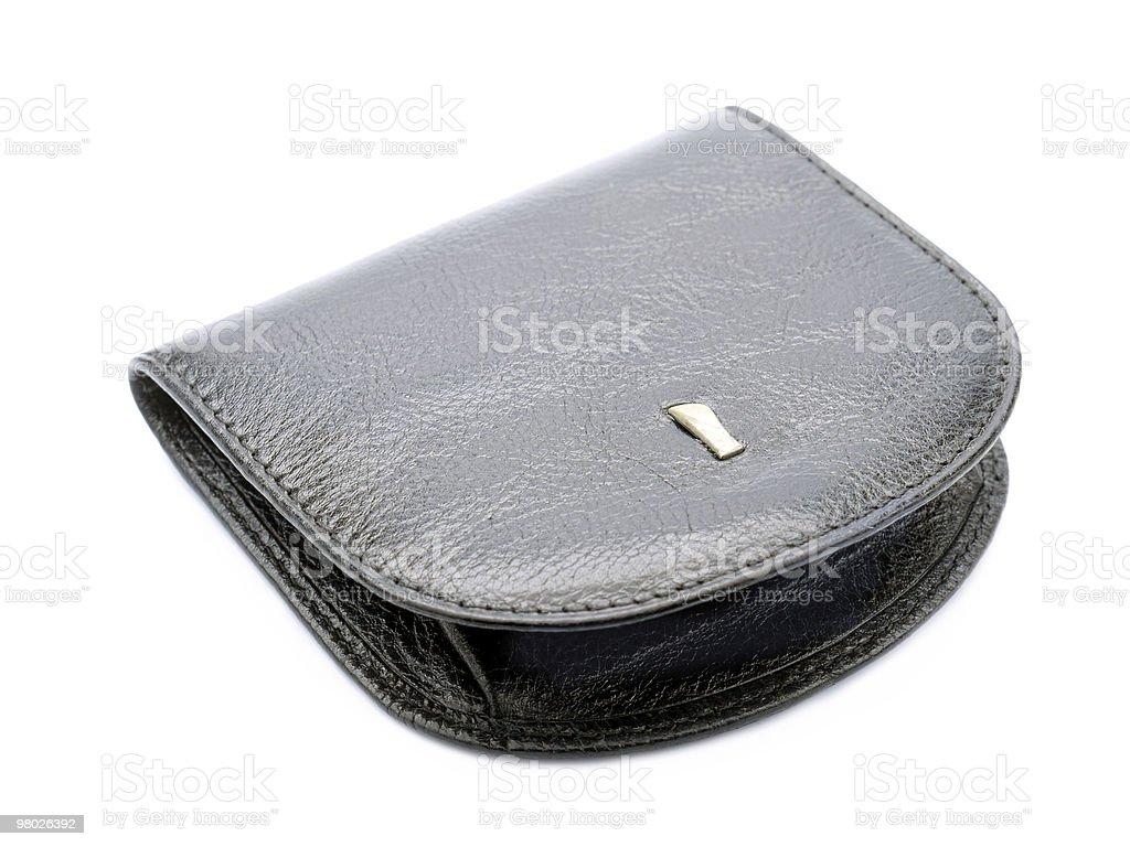 Black purse royalty-free stock photo
