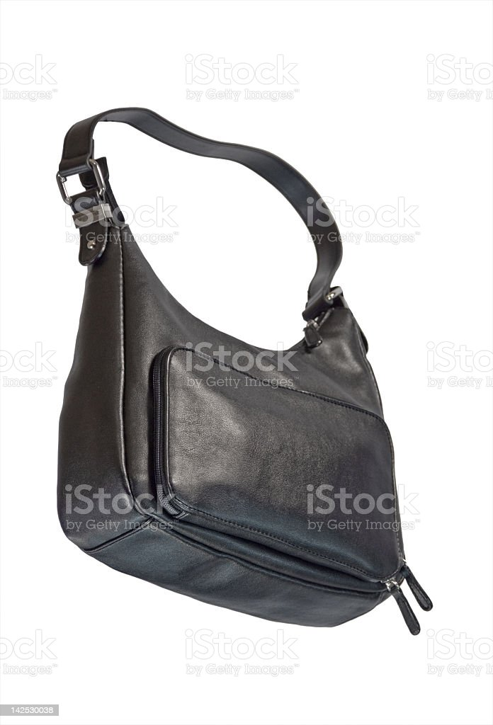 Black Purse with Clipping Path royalty-free stock photo