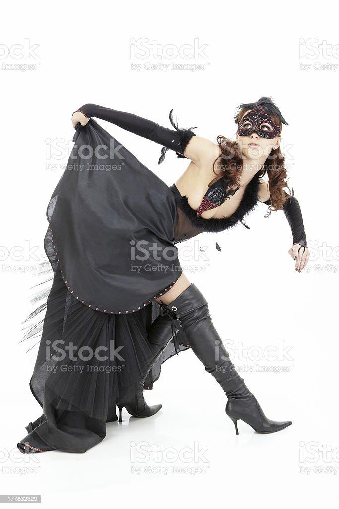 Black queen stock photo