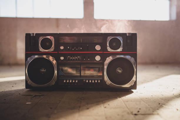 Black radio stock photo