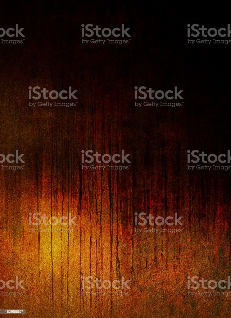 'Black Rain' Abstract Grungy Background Painting royalty-free stock photo