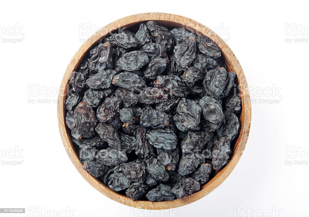 Black raisins stock photo