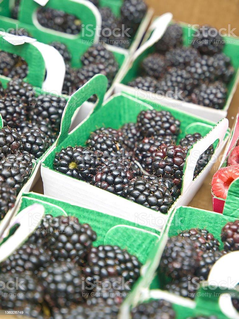 Black raspberrys royalty-free stock photo