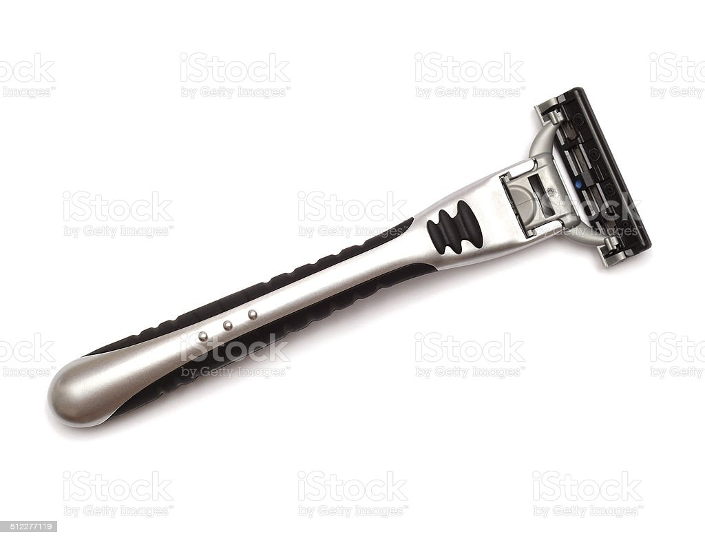 Black razor stock photo