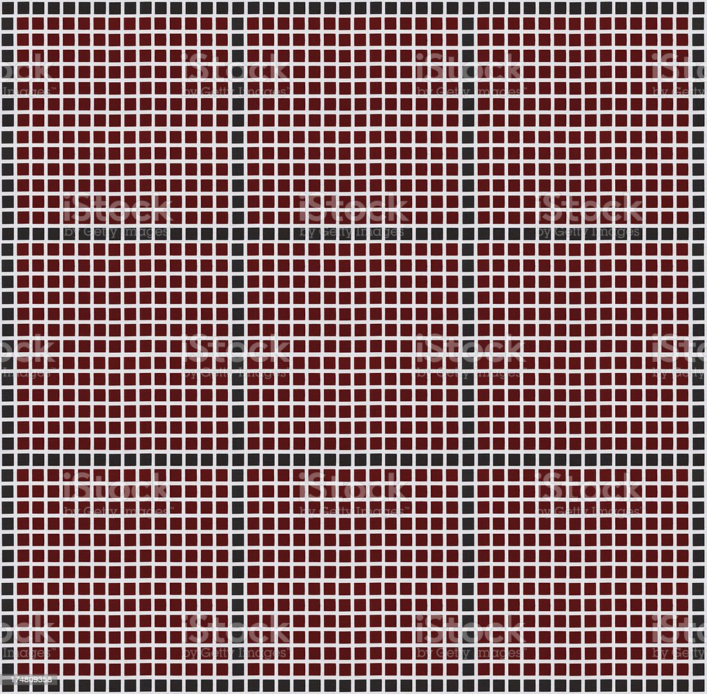 Black Red and White Plaid Tablecloth Pattern royalty-free stock photo