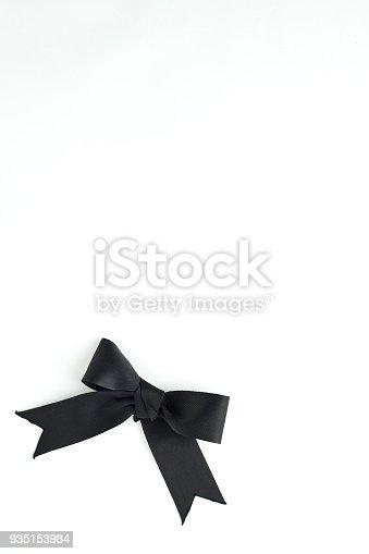 istock black ribbon bow isolated on white 935153984
