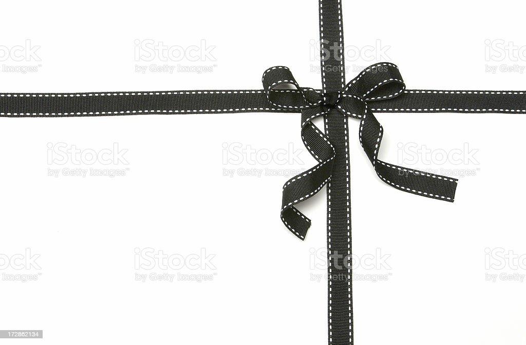 Black Ribbon Bow stock photo