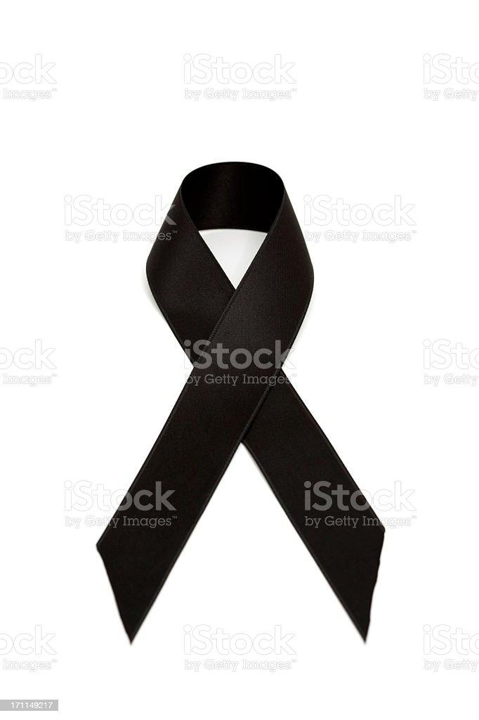 black ribbon stock photo