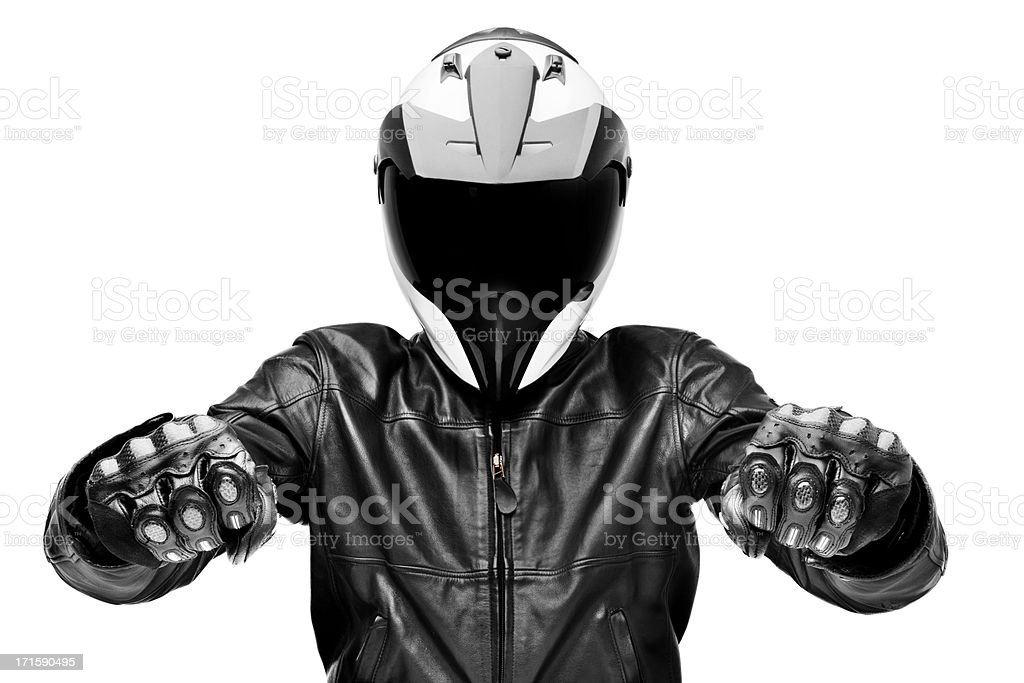 Black rider stock photo
