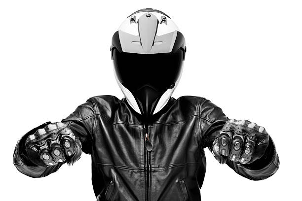 black rider - biker stock photos and pictures