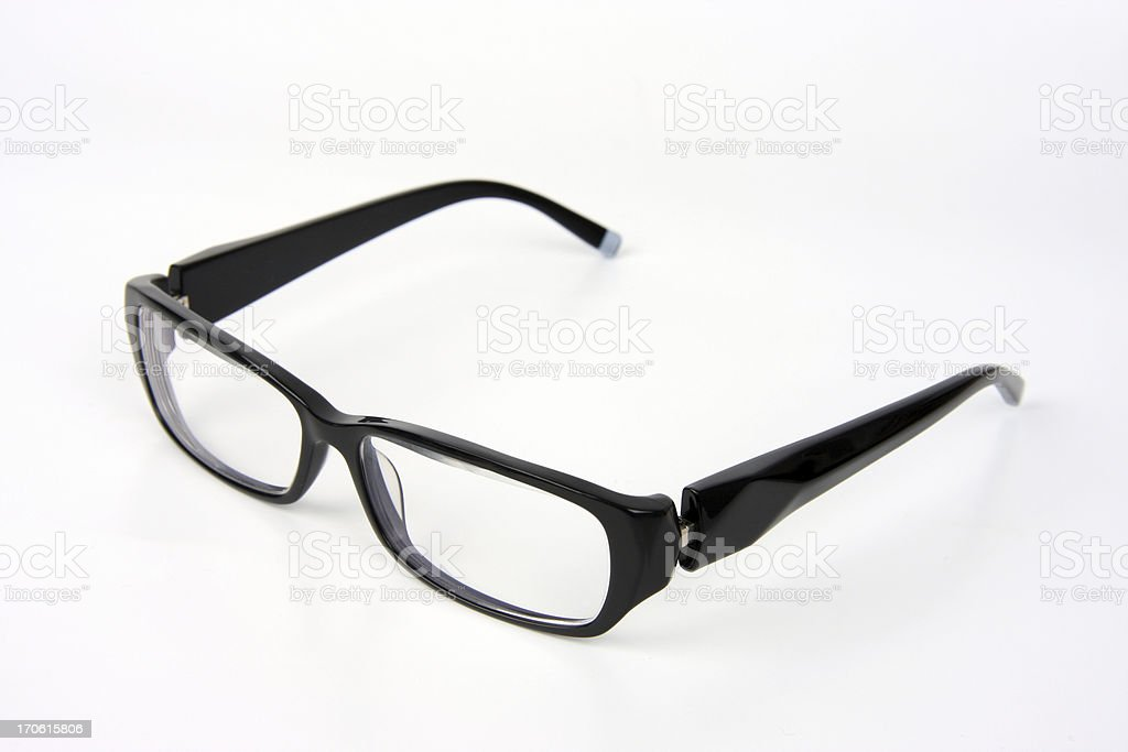 Black Rimmed Spectacles stock photo