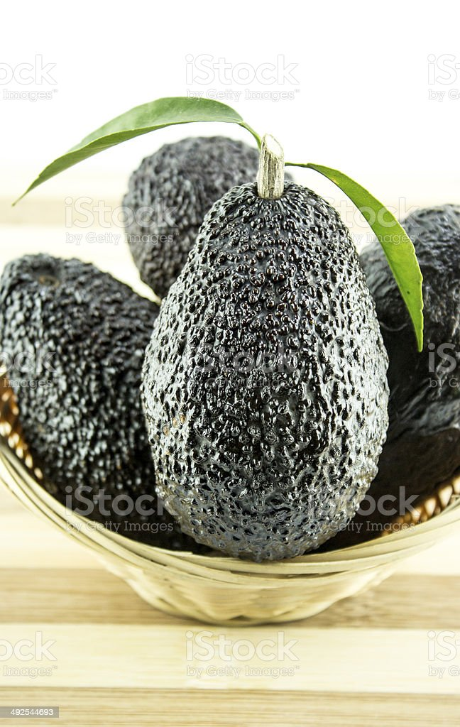 Black Ripe Avocados royalty-free stock photo