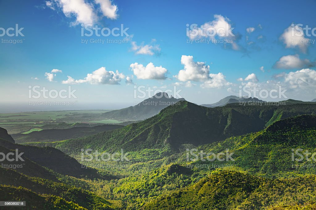Black River Gorges National Park Mauritius Island stock photo