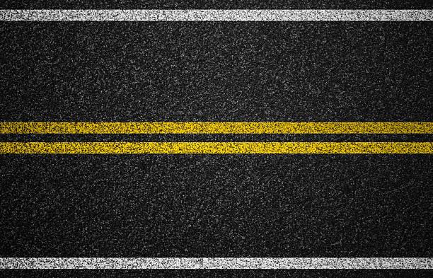 L'autoroute route asphalte avec fond de marquage - Photo