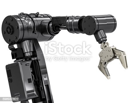istock black robotic arm 598932822
