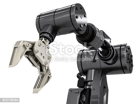 istock black robotic arm 620739264
