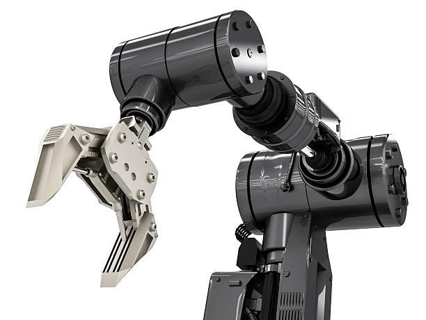 black robotic arm - menselijke arm stockfoto's en -beelden