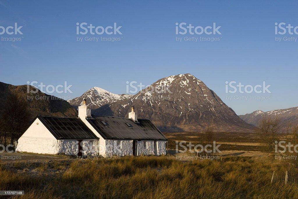 Black Rock Cottage, Glencoe stock photo