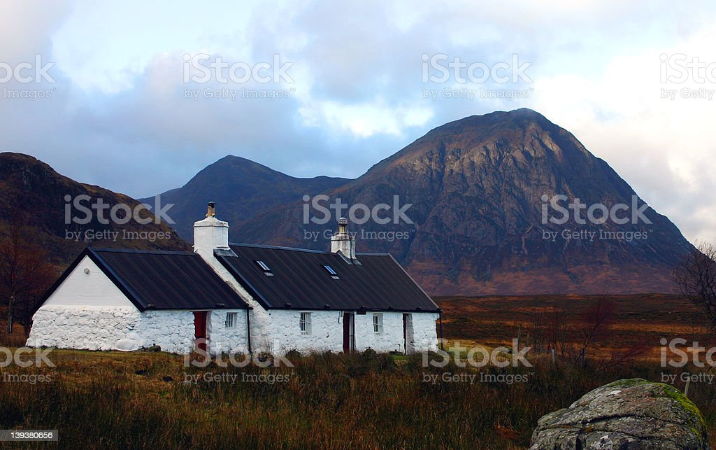 Black Rock Cottage royalty-free stock photo
