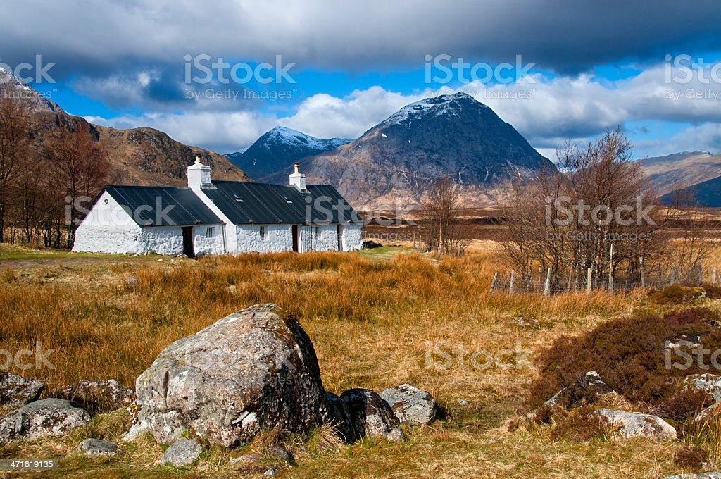 black rock cottage stock photo