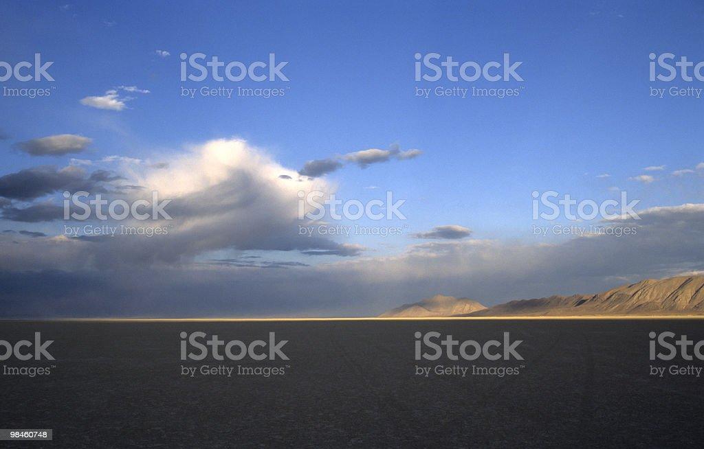 Black Rock Desert Sunset stock photo