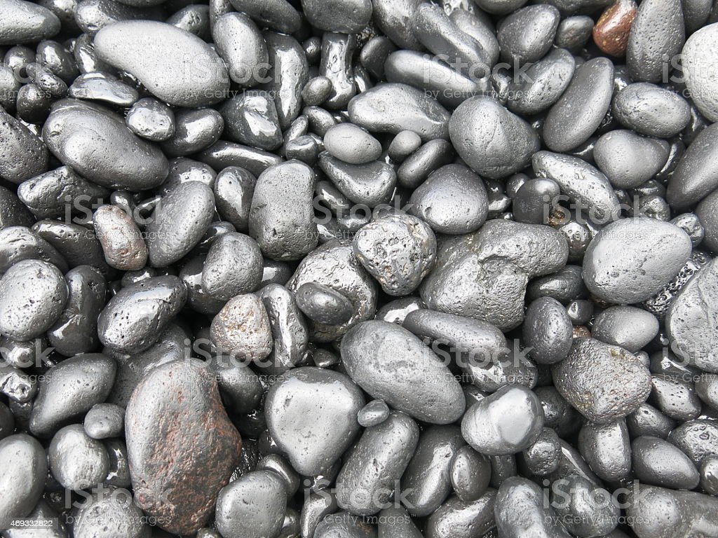 Black Rock from Hawaii stock photo