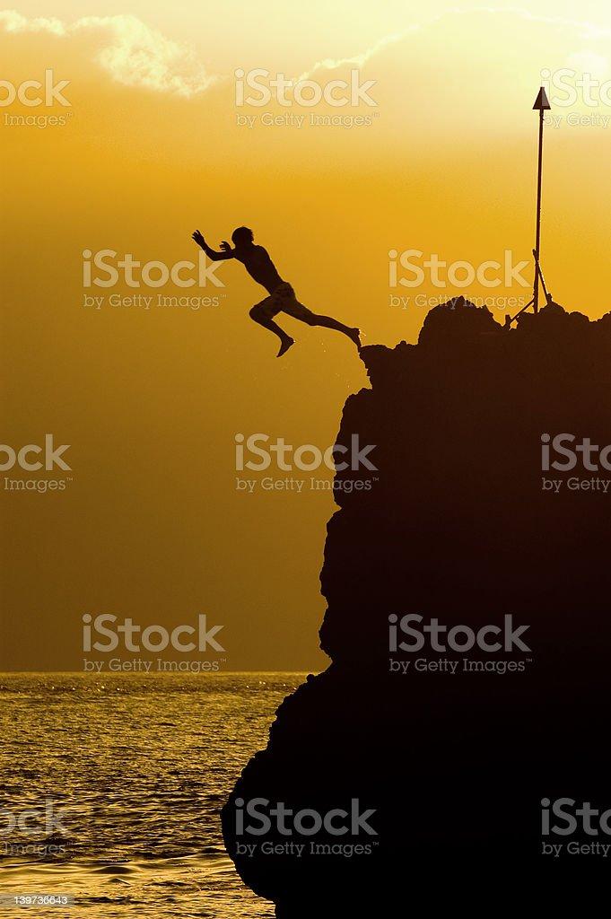Black Rock Leap stock photo