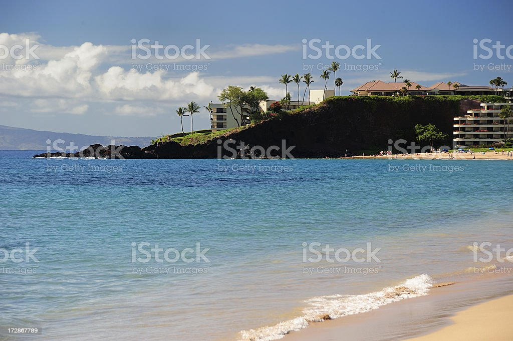 Black Rock, Maui stock photo