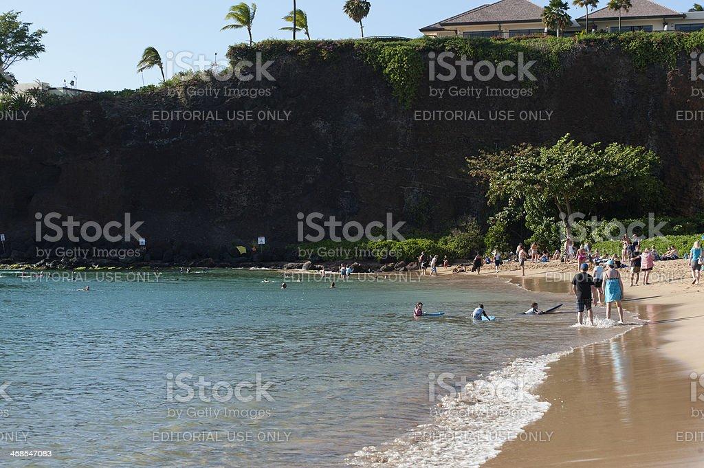 Black Rock Maui stock photo