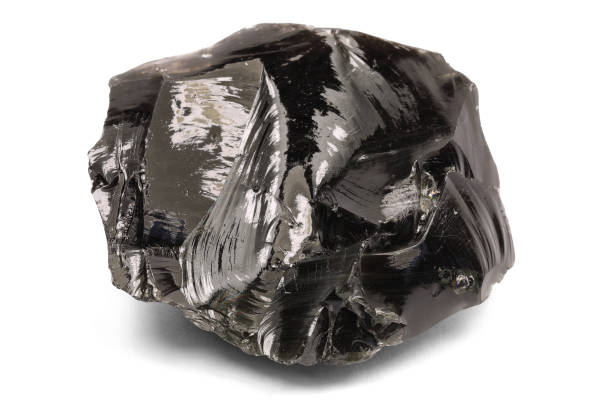zwarte rots obsidiaan - onyx stockfoto's en -beelden