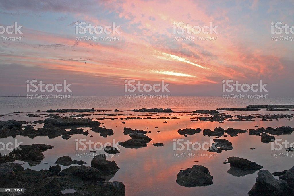 black rock sunset royalty-free stock photo