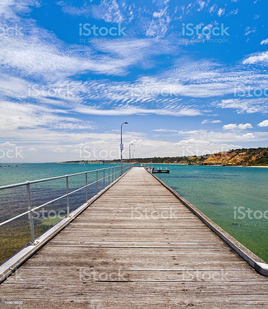 Black Rock Yatch Club Pier, Melbourne stock photo