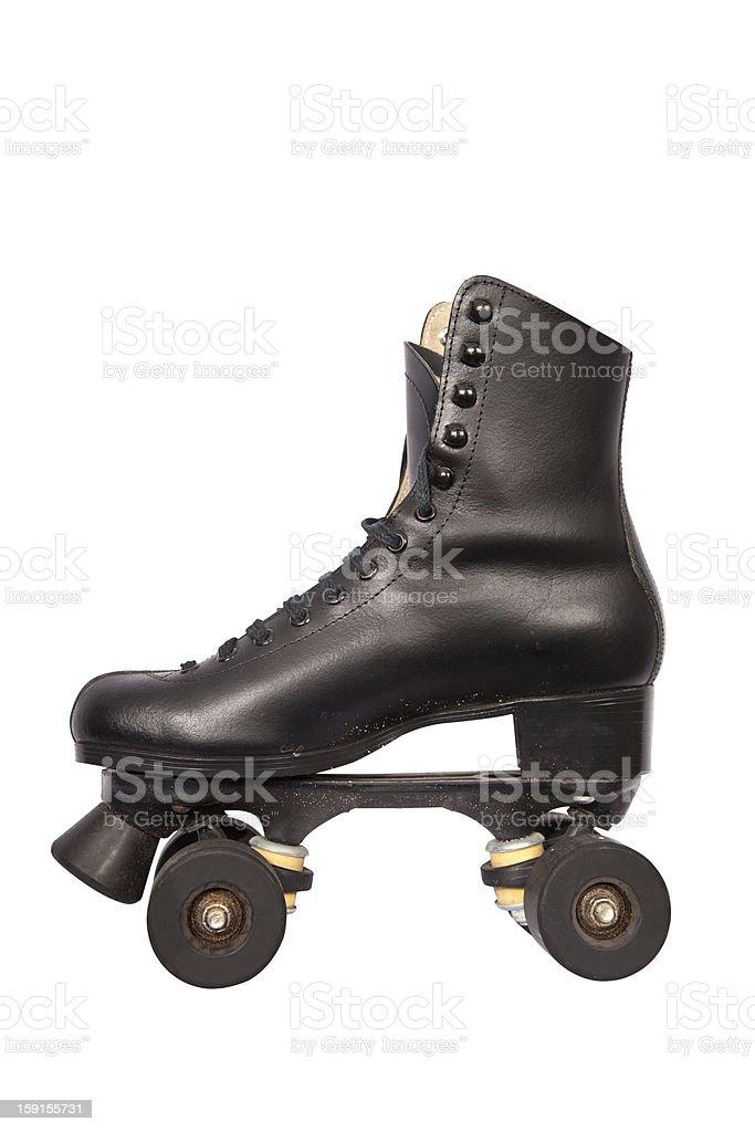 Black roller skate royalty-free stock photo
