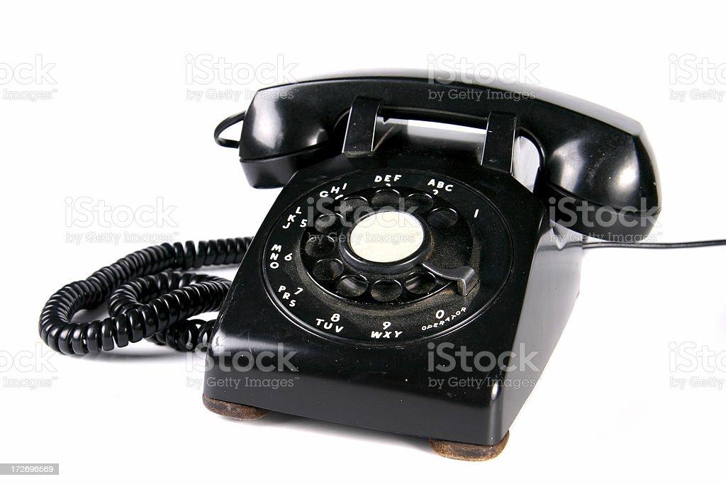 Black Rotary Dial Phone royalty-free stock photo